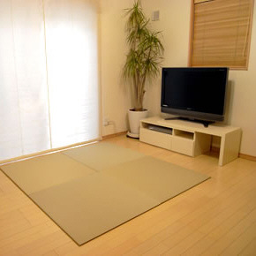【SEKISUI/セキスイ】 美草 フロア畳(置き畳) 目積 リーフグリーン お買得2枚セット