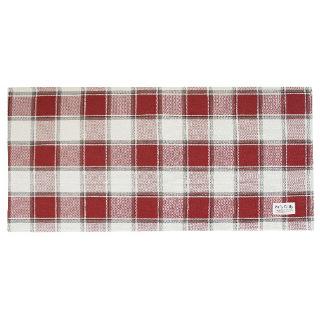 Pally Pally ロングラグ 56×120cm 撥水加工 洗濯機丸洗い・床暖房対応可 レッド