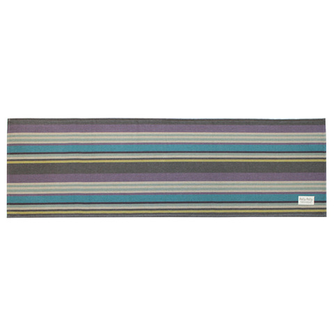 Pally Pally ロングラグ 56×180cm 撥水加工 洗濯機丸洗い・床暖房対応可 ダークブルー