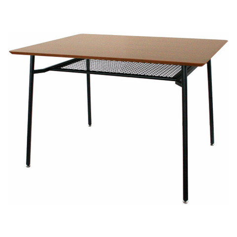 【anthem/アンセム】  ダイニングテーブル Sサイズ フェンス棚付き ANT-2831BR