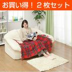 【お買い得2枚セット】【日本製】電気ひざ掛け毛布(140×82cm) レッド NA‐055H-RT