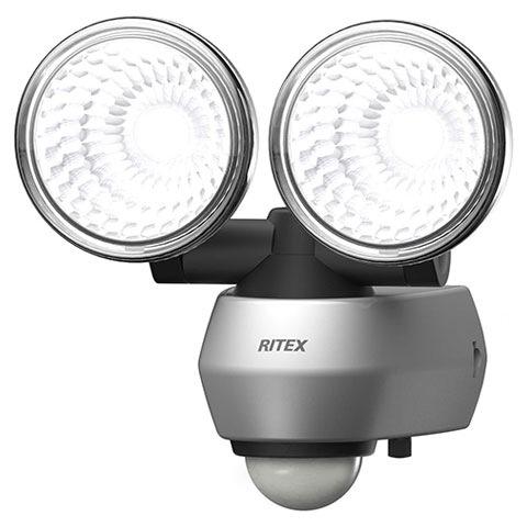 【RITEX/ライテックス】 LEDセンサーライト コンセント式 防雨タイプ 10W LED×2灯