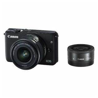 【Canon/キヤノン】ミラーレス一眼カメラ EOS M10 ダブルレンズキット ブラック