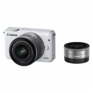 【Canon/キヤノン】ミラーレス一眼カメラ EOS M10 ダブルレンズキット ホワイト