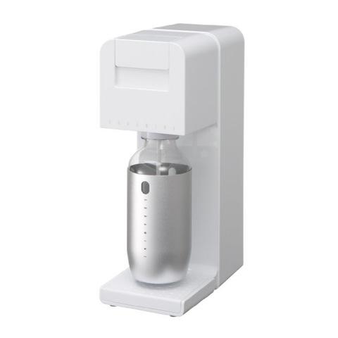 【SODA MINI】 家庭用炭酸水メーカー ホワイト スターター特別セット(本体+予備2本)