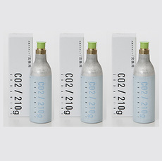 【SODA MINI/ソーダミニ】 家庭用炭酸水メーカー ソーダミニ専用 交換炭酸ボンベ 3本セット
