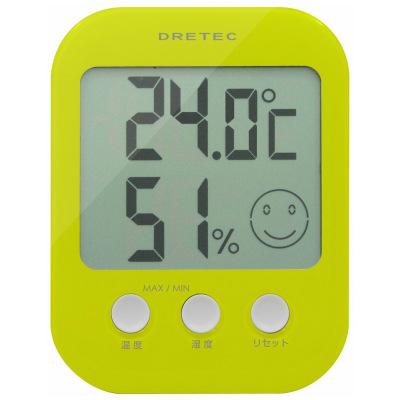 【dretec/ドリテック】  デジタル温湿度計  オプシス  グリーン  O-230