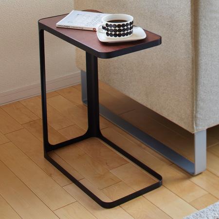 山崎実業 サイドテーブル フレーム ブラック