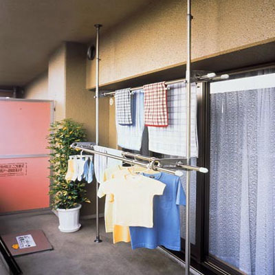 【SEKISUI/セキスイ】ステンレスベランダ用ものほし台 スタンドポール DSL-20