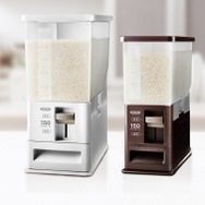 【ASVEL/アスベル】洗えて清潔!無洗米対応 計量米びつ12kg型 ホワイト キャスター付き