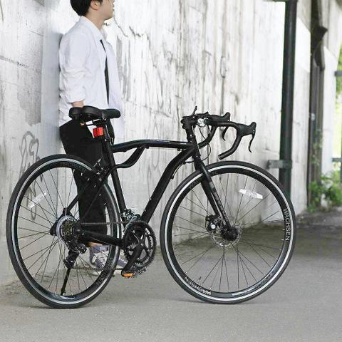 【WACHSEN/ヴァクセン】 700C アルミロードバイク 14段変速付き ブラック Drohung BAR-700-BK