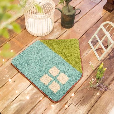 【Okato/オカトー】 カフェする インテリアマット オウチル 55×50cm ブルー