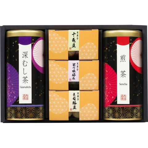 【銘茶百科 宇治森徳】銘茶優舞 豆菓子詰合せFC-30M