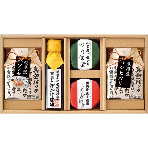 【美食ファクトリー】蔵出し卵がけ醤油とおいしい米ギフト KX-30R