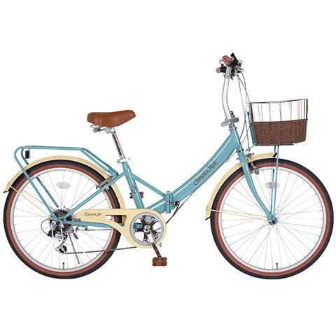 【シンプルスタイル】低床フレーム24型折りたたみ自転車 ブリティッシュカラーズ ヨーロッパ