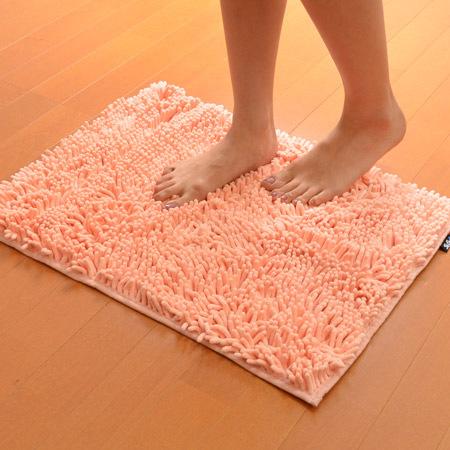 【山崎実業】バスマット スウスウ Mサイズ 45×60cm 抗菌仕様 ピンク