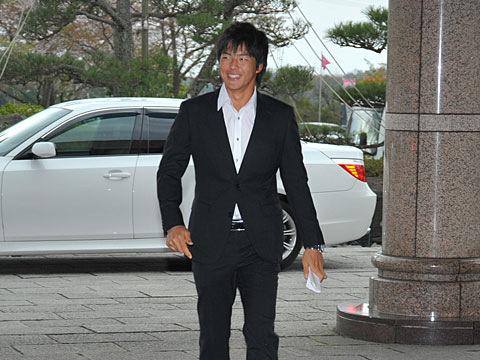 多度に到着した石川遼選手