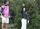 風の動きを読む石川選手