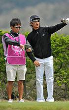 戦略を練る石川選手