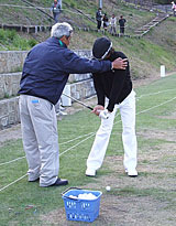 練習に励む石川選手