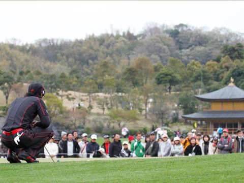 難しいラインを読む石川選手