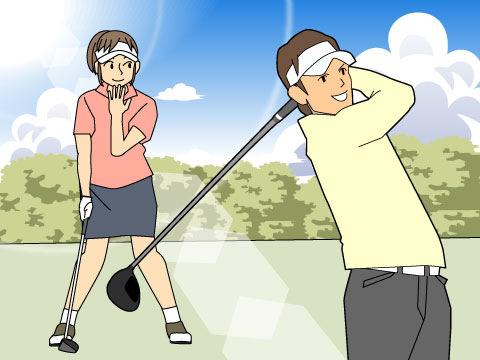 夫婦ゴルフ