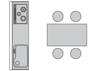 キッチン平面図