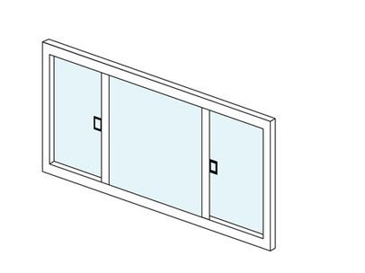 両片引き窓