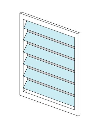 ルーバー窓(ジャロジー)