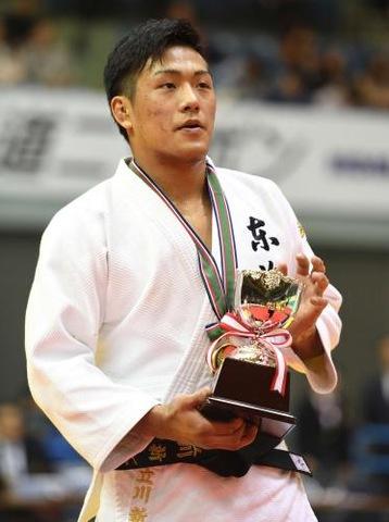 男子73キロ級で優勝した立川新(撮影・柴田隆二)