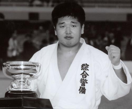 94年4月、柔道全日本選手権で優勝した金野潤