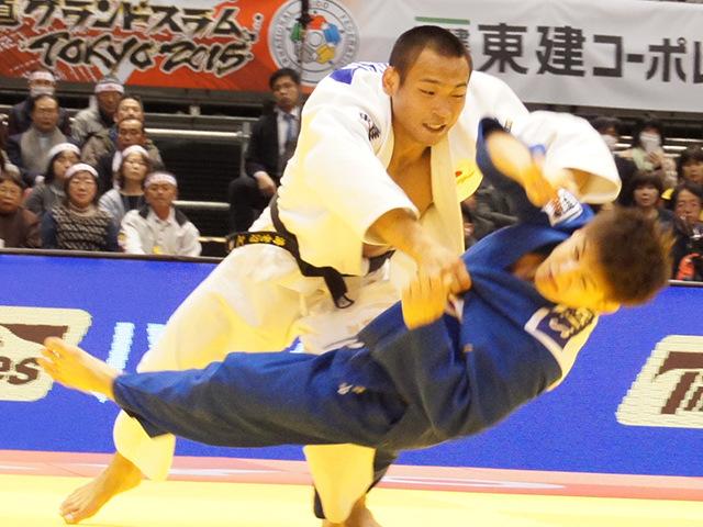柔道グランドスラム東京2015 男子66kg級 準決勝 海老沼匡 vs 竪山将