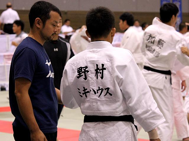 野村忠宏 試合前の練習風景�B
