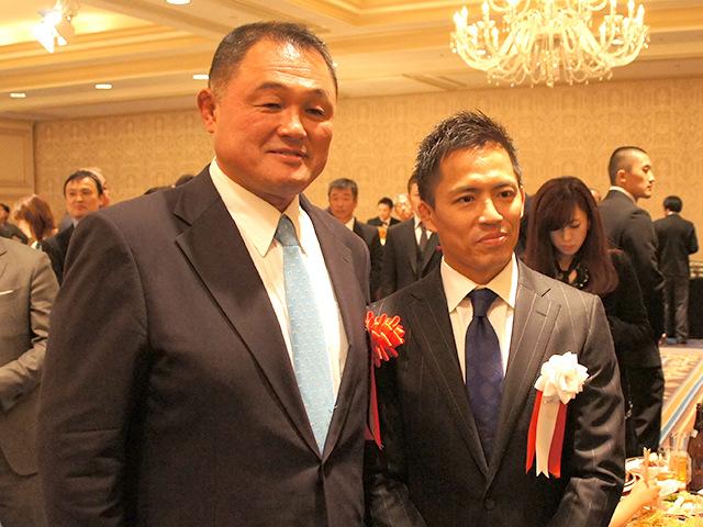 全日本柔道連盟 山下泰裕副会長と野村忠宏氏