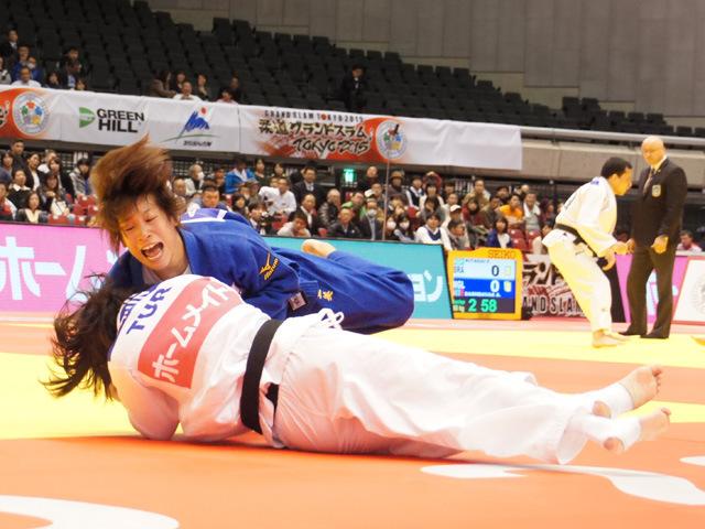 柔道グランドスラム東京2015 女子48kg級 準決勝 近藤亜美 vs E.SAHIN