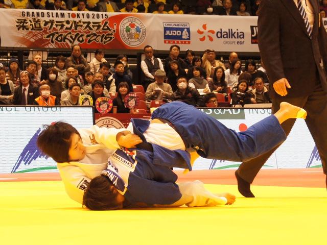柔道グランドスラム東京2015 女子52kg級 準決勝 中村美里 vs 西田優香
