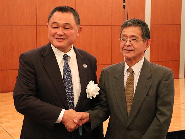 全日本柔道連盟 山下泰裕会長と上林恒平氏