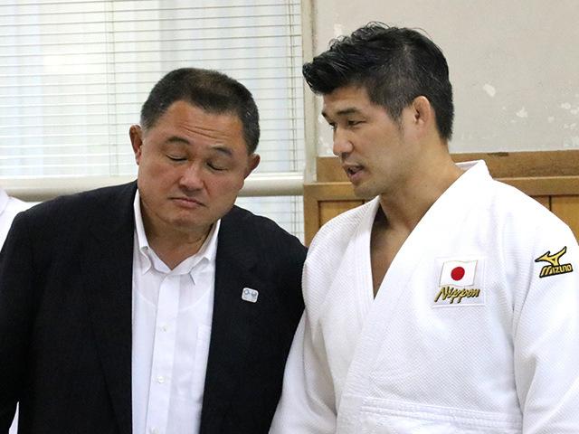 全日本柔道連盟 山下泰裕会長と全日本柔道男子 井上康生監督