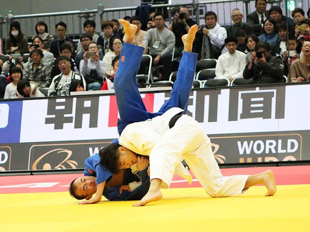 男子66kg級 準決勝戦 阿部一二三 vs B.YONDONPERENLEI