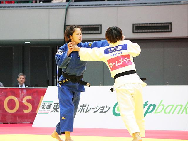 女子48kg級 準々決勝戦 近藤亜美 vs 遠藤宏美