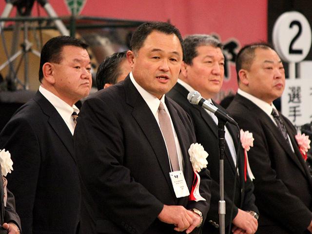 全日本柔道連盟山下副会長挨拶