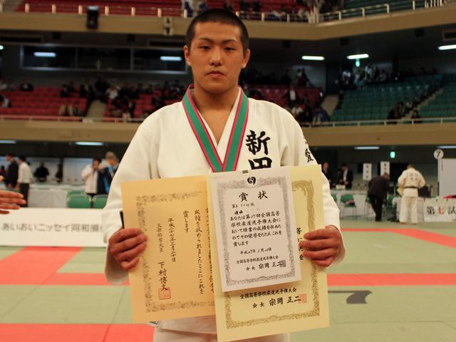 男子73kg級優勝 立川 新