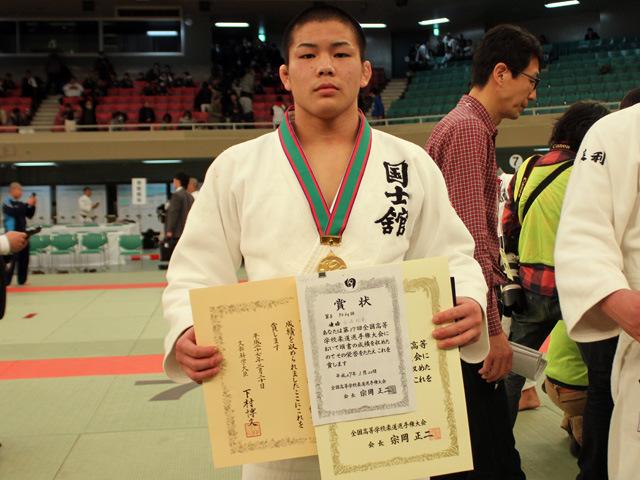 男子90kg級優勝 田嶋 剛希