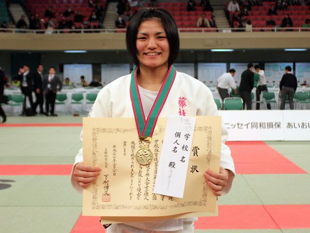 女子57kg優勝 谷川 美歩