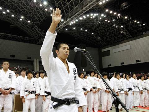 選手宣誓 米村将選手(国士舘高校)