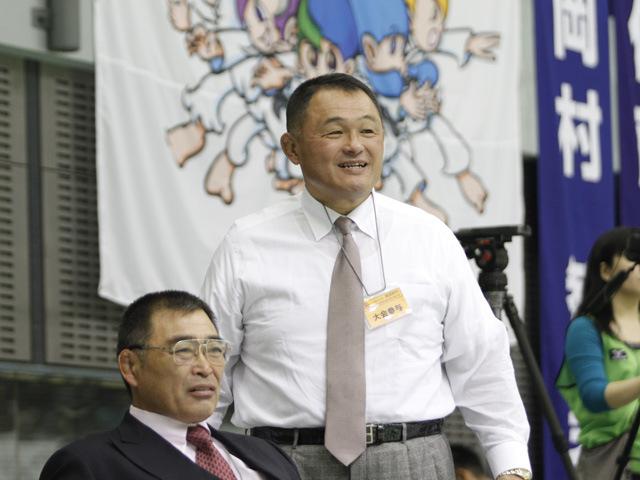 東海大学体育学部長 山下氏と学生柔道連盟佐藤会長