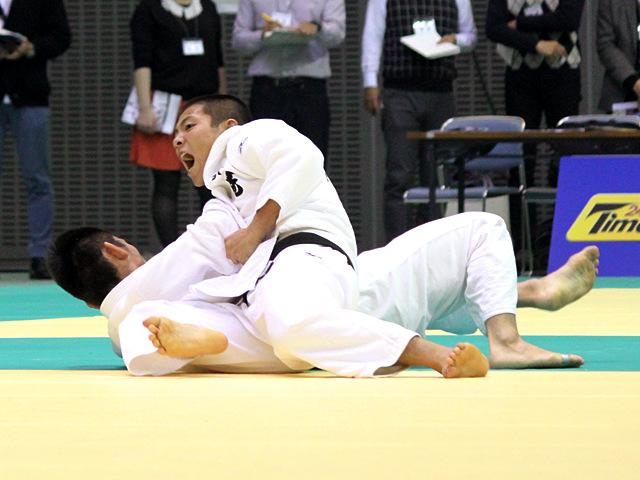 男子66kg級 3回戦 阿部一二三vs福岡政章