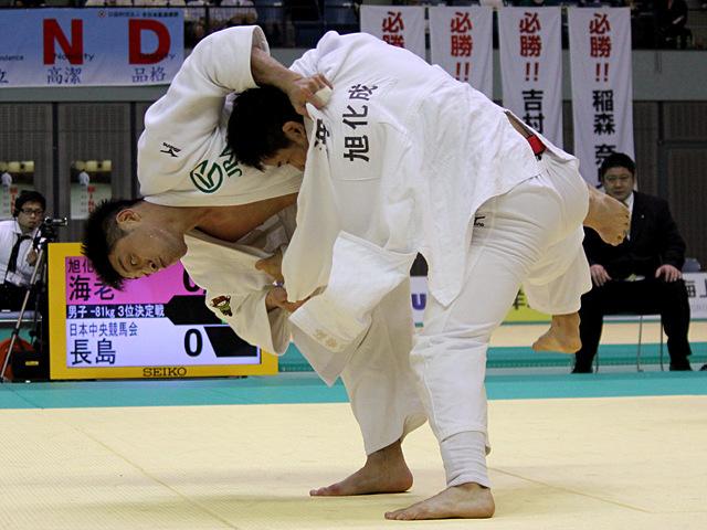 男子81kg級 3位決定戦 長島啓太vs海老泰博�A