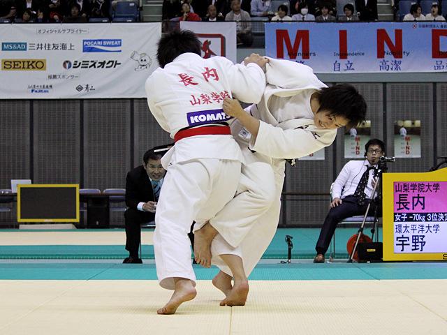 女子70kg級 3位決定戦 長内香月vs宇野友紀子