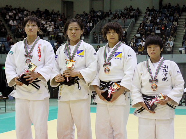 女子70kg級表彰式